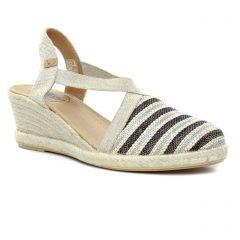 espadrilles-compensees noir: même style de chaussures en ligne pour femmes que les Kanna
