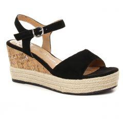 espadrilles-compensees noir: même style de chaussures en ligne pour femmes que les Marco Tozzi