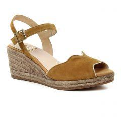 espadrilles-compensees marron: même style de chaussures en ligne pour femmes que les Kanna
