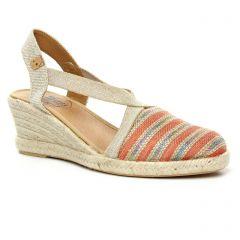 espadrilles-compensees orange: même style de chaussures en ligne pour femmes que les Tamaris