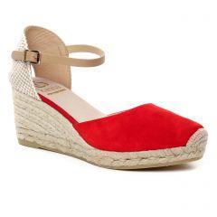 Chaussures femme été 2019 - espadrilles compensées Kanna rouge