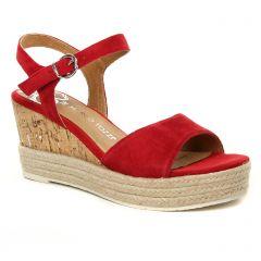 Marco Tozzi 28337 Chili : chaussures dans la même tendance femme (espadrilles-compensees rouge) et disponibles à la vente en ligne