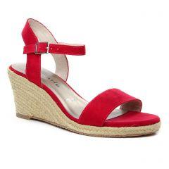 espadrilles-compensees rouge: même style de chaussures en ligne pour femmes que les La Lune Et Toi