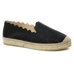 espadrilles noir: même style de chaussures en ligne pour femmes que les Scarlatine