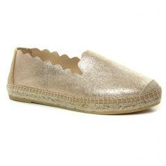 espadrilles or doré: même style de chaussures en ligne pour femmes que les Kanna