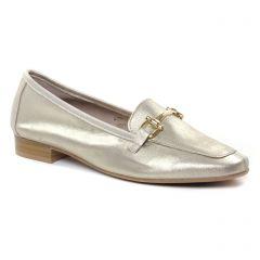 mocassins beige doré: même style de chaussures en ligne pour femmes que les Tamaris