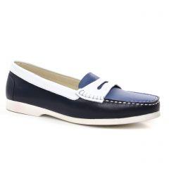 Chaussures femme été 2019 - mocassins confort Hirica bleu marine