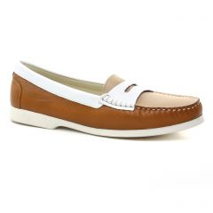 Chaussures femme été 2019 - mocassins confort Hirica marron beige