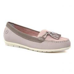 mocassins-confort rose mauve: même style de chaussures en ligne pour femmes que les Tamaris