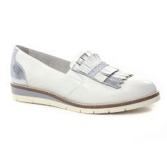 mocassins-slippers blanc: même style de chaussures en ligne pour femmes que les Tamaris
