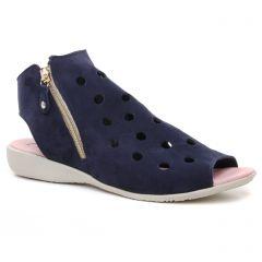 Chaussures femme été 2019 - nu-pieds Hirica bleu marine