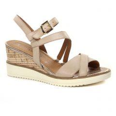 Tamaris 28349 Shell : chaussures dans la même tendance femme (nu-pieds-talons-compenses beige) et disponibles à la vente en ligne