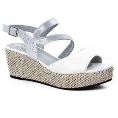 nu-pieds-talons-compenses blanc: même style de chaussures en ligne pour femmes que les Mamzelle