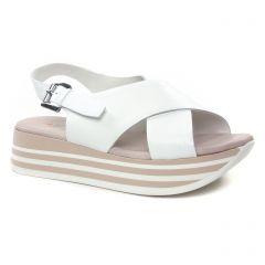 nu-pieds-talons-compenses blanc: même style de chaussures en ligne pour femmes que les Laura Vita