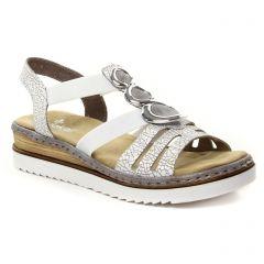 nu-pieds-talons-compenses blanc: même style de chaussures en ligne pour femmes que les Rieker