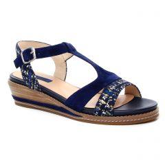 nu-pieds-talons-compenses bleu marine: même style de chaussures en ligne pour femmes que les Impact