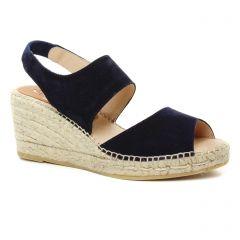 Chaussures femme été 2019 - espadrilles compensées Kanna bleu marine