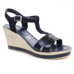 Marco Tozzi 28340 Navy Comb : chaussures dans la même tendance femme (nu-pieds-talons-compenses bleu marine) et disponibles à la vente en ligne