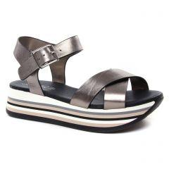 nu-pieds-talons-compenses bronze doré: même style de chaussures en ligne pour femmes que les Remonte