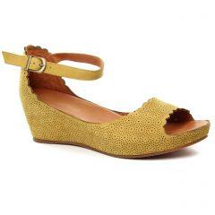 nu-pieds-talons-compenses jaune: même style de chaussures en ligne pour femmes que les Mamzelle