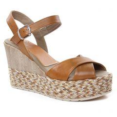 nu-pieds-talons-compenses marron: même style de chaussures en ligne pour femmes que les Dorking