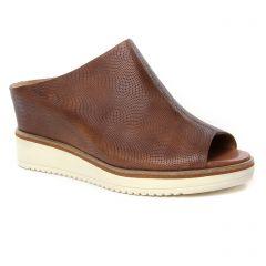 Chaussures femme été 2019 - nu-pieds compensés tamaris marron