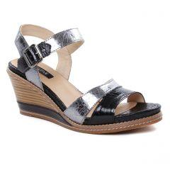 nu-pieds-talons-compenses noir: même style de chaussures en ligne pour femmes que les Fugitive