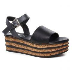nu-pieds-talons-compenses noir gris: même style de chaussures en ligne pour femmes que les Mamzelle