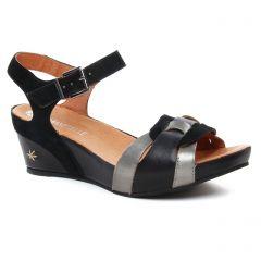 nu-pieds-talons-compenses noir: même style de chaussures en ligne pour femmes que les Dorking
