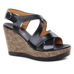 nu-pieds-talons-compenses noir: même style de chaussures en ligne pour femmes que les Remonte