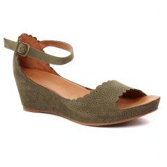 nu-pieds-talons-compenses vert kaki: même style de chaussures en ligne pour femmes que les Mamzelle