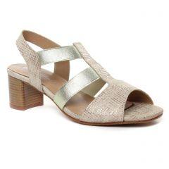 nu-pieds-talon beige doré: même style de chaussures en ligne pour femmes que les Maria Jaén