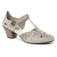 escarpins-trotteur beige: même style de chaussures en ligne pour femmes que les Rieker
