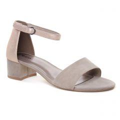 nu-pieds-talon beige: même style de chaussures en ligne pour femmes que les Tamaris