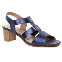 nu-pieds-talon bleu métal: même style de chaussures en ligne pour femmes que les Maria Jaén