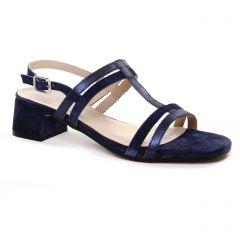 nu-pieds-talon bleu marine: même style de chaussures en ligne pour femmes que les Maria Jaén