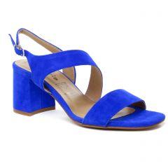 nu-pieds-talon bleu roi: même style de chaussures en ligne pour femmes que les Tamaris