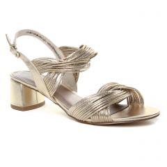 nu-pieds-trotteurs doré: même style de chaussures en ligne pour femmes que les Tamaris