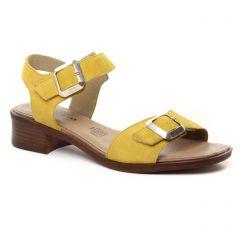 sandales jaune: même style de chaussures en ligne pour femmes que les Geo Reino