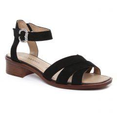 nu-pieds-trotteurs noir: même style de chaussures en ligne pour femmes que les Geo Reino