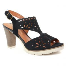 nu-pieds-talon noir: même style de chaussures en ligne pour femmes que les Mamzelle