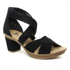 Rieker 66579-00 Noir : chaussures dans la même tendance femme (nu-pieds-talon noir) et disponibles à la vente en ligne