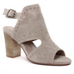 Chaussures femme été 2019 - nu-pieds talons hauts Carmela beige