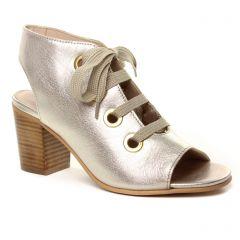 Chaussures femme été 2019 - nu-pieds talons hauts Impact beige doré