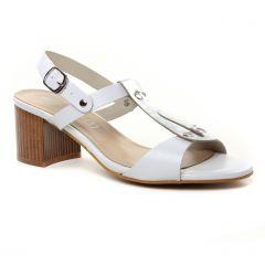 Chaussures femme été 2019 - nu-pieds talons hauts Maria Jaén blanc argent