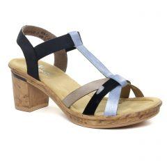 nu-pieds-talons-hauts bleu marine: même style de chaussures en ligne pour femmes que les Impact