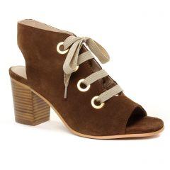 Chaussures femme été 2019 - nu-pieds talons hauts Impact marron