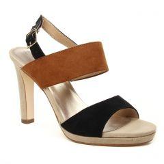 nu-pieds-talons-hauts marron noir: même style de chaussures en ligne pour femmes que les Tamaris