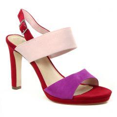 nu-pieds-talons-hauts rouge multi: même style de chaussures en ligne pour femmes que les Tamaris