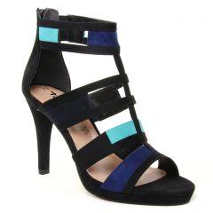 nu-pieds-talons-hauts noir bleu: même style de chaussures en ligne pour femmes que les Tamaris